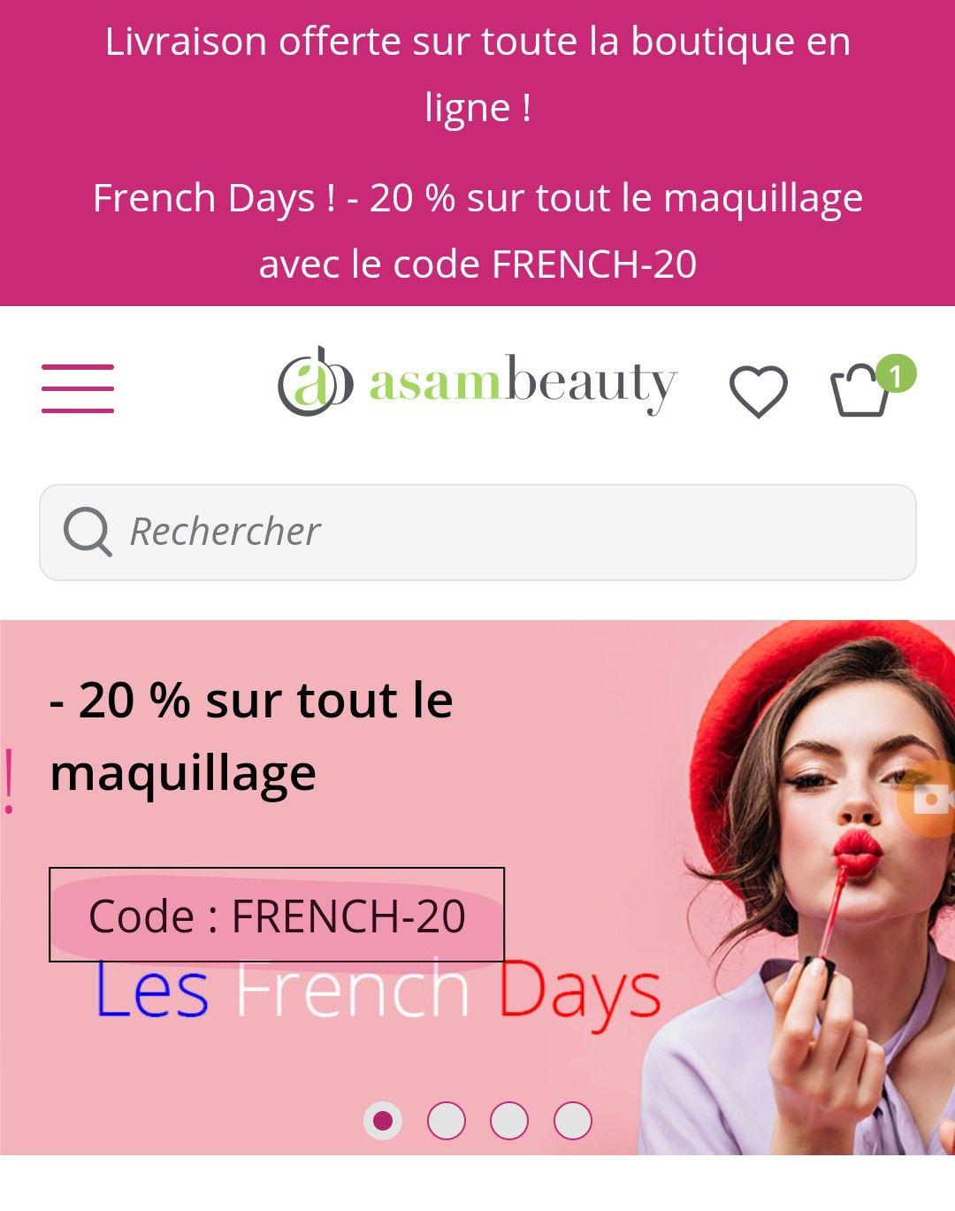20% de réduction sur le maquillage (asambeauty.com)