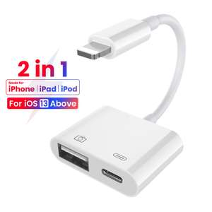 Adaptateur 8 broches vers USB 2.0 pour iPhone