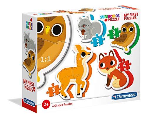 Pack de 4 Puzzles My First Puzzles Clementoni : Animaux de la Forêt - 2,3,4 et 5 pièces