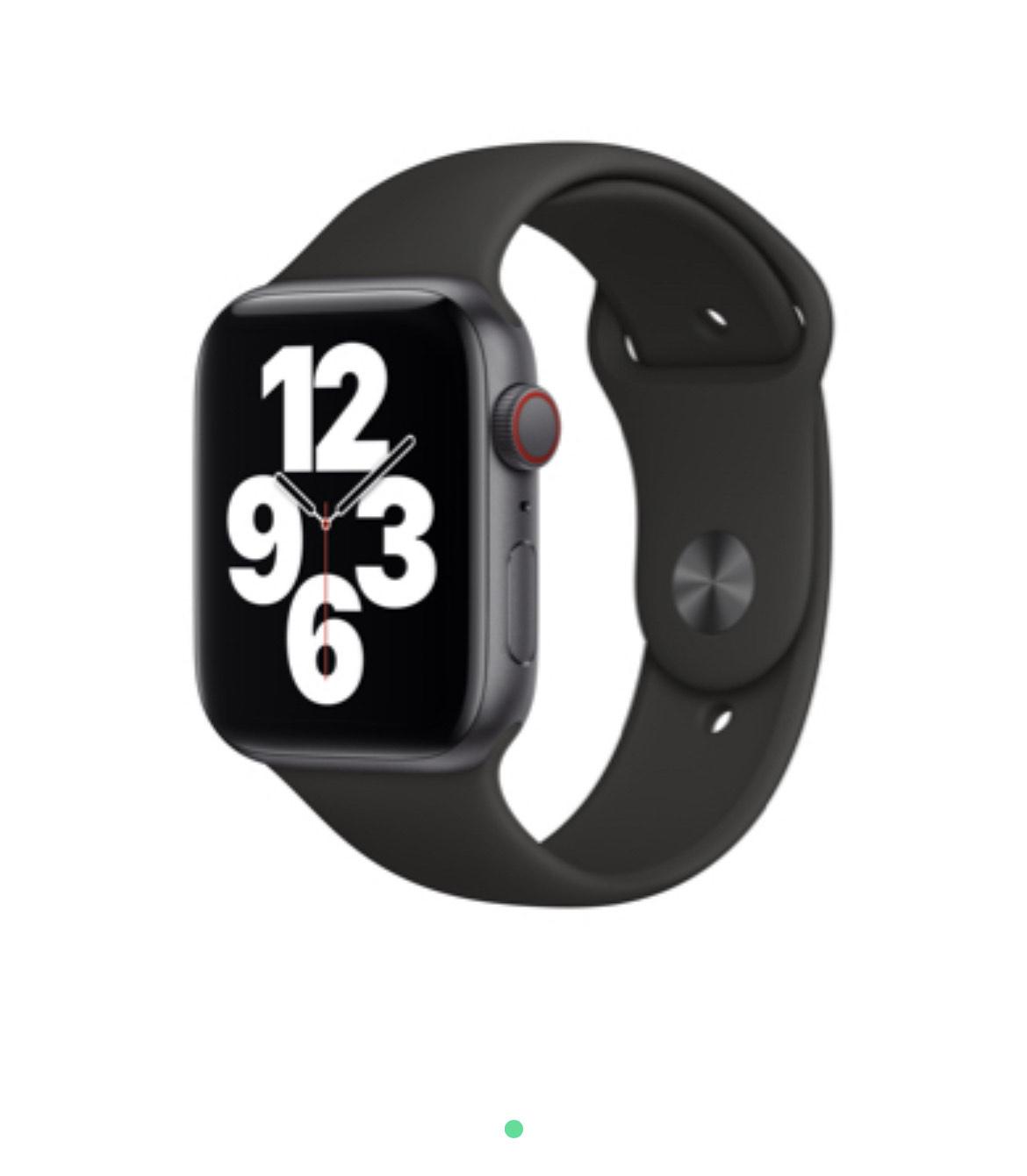 Montre connectée Apple Watch SE 44mm (GPS + Cellular) + option montre connectée (via ODR de 50€ sur la facture)