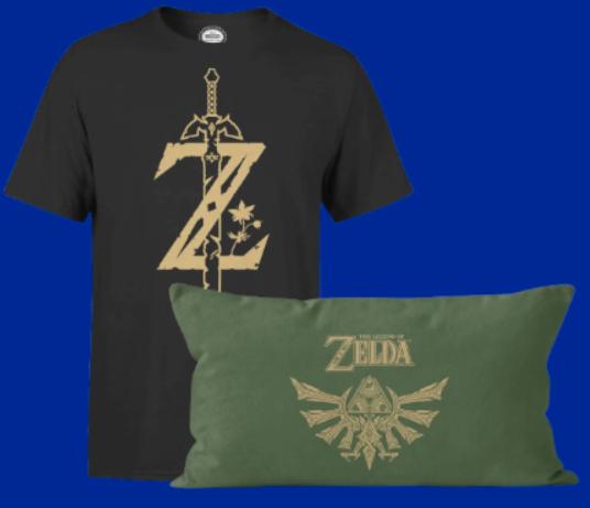 T-Shirt Master Sword + Coussin Zelda à 12.99€