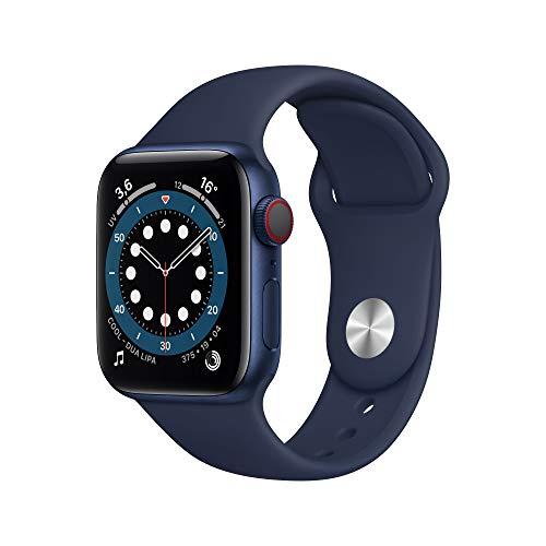 Montre connectée Apple Watch Series 6 (GPS + Cellular), 40mm Boîtier en Aluminium Bleu avec Bracelet
