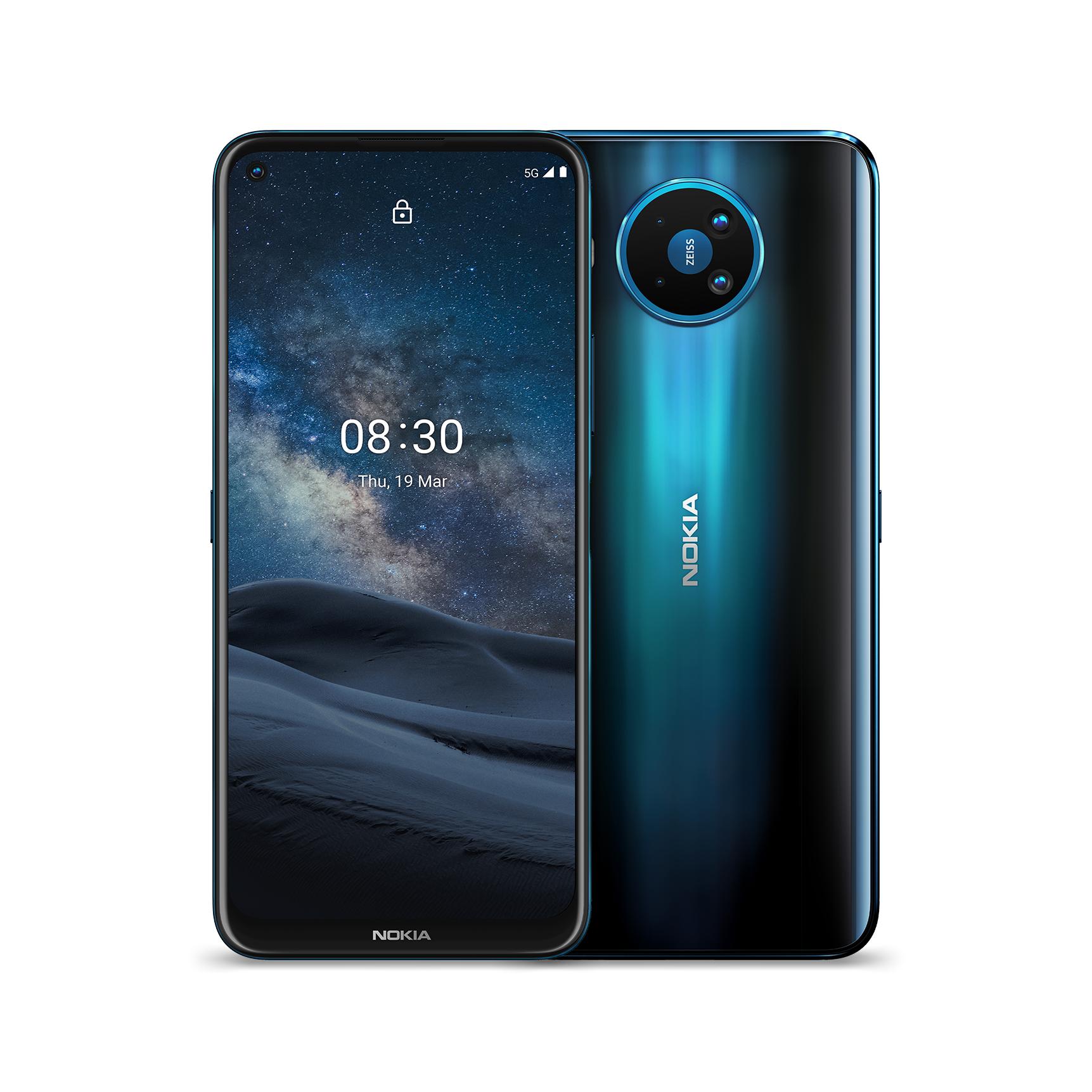 """Smartphone 6.8"""" Nokia 8.3 5G - 128Go, 8Go RAM, Snapdragon 765G, 64MP, 4500mAh (nokia.com)"""