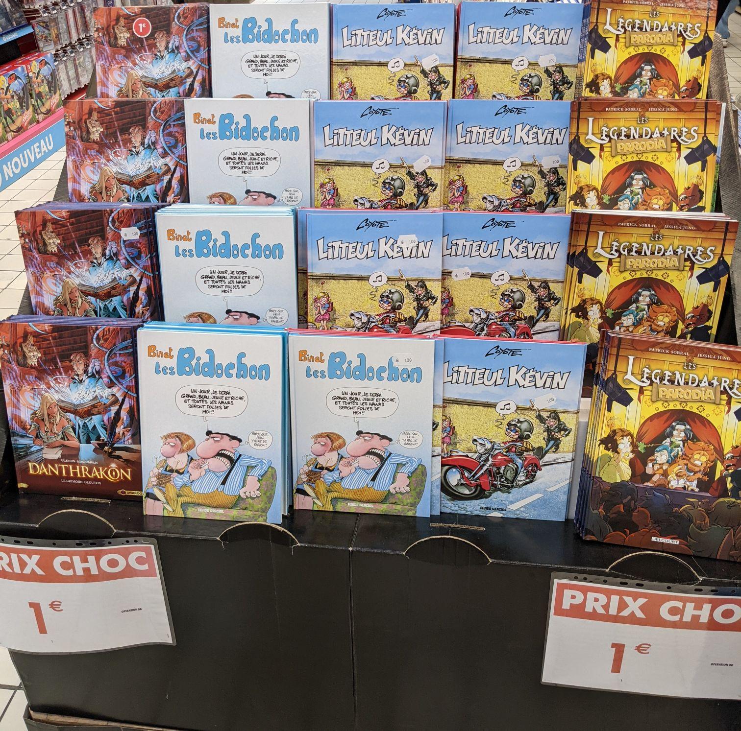 Sélection de bandes dessinées à 1€ (Liévin 62)