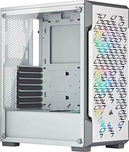 Boitier PC Corsair iCUE 220T RGB Airflow - ATX, Blanc, Fenêtre verre trempé