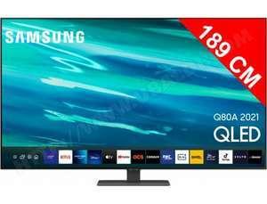 """TV 75"""" Samsung QE75Q80A - 4K UHD, Quantum HDR 1500, Smart TV (Via ODR de 500€)"""