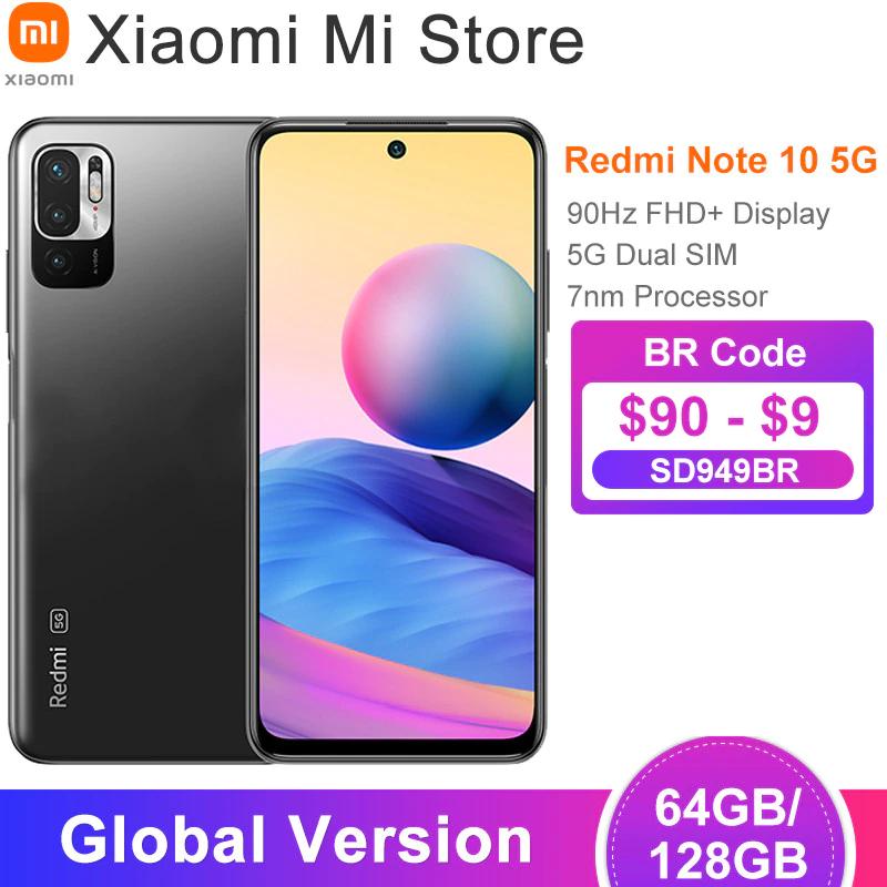 "Smartphone 6.5"" Xiaomi Redmi Note 10 5G - 4 Go RAM, 68 Go ROM"