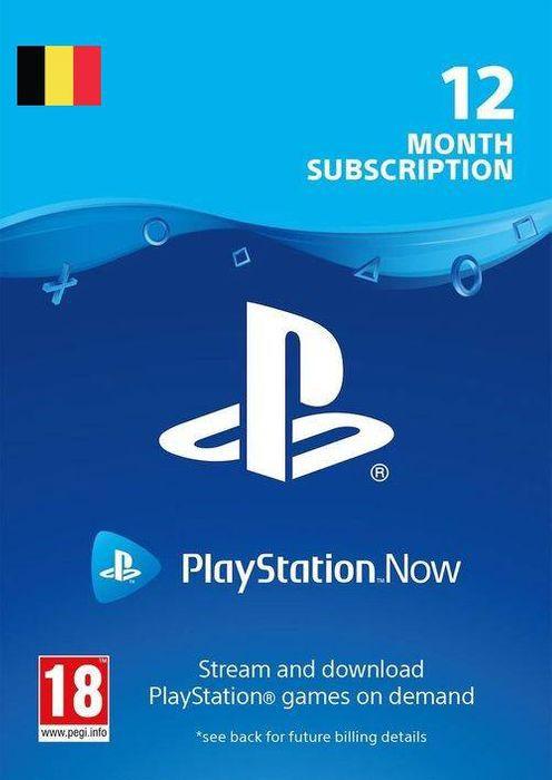 Abonnement de 12 mois au PlayStation Now (Dématérialisé - Compte Belgique)