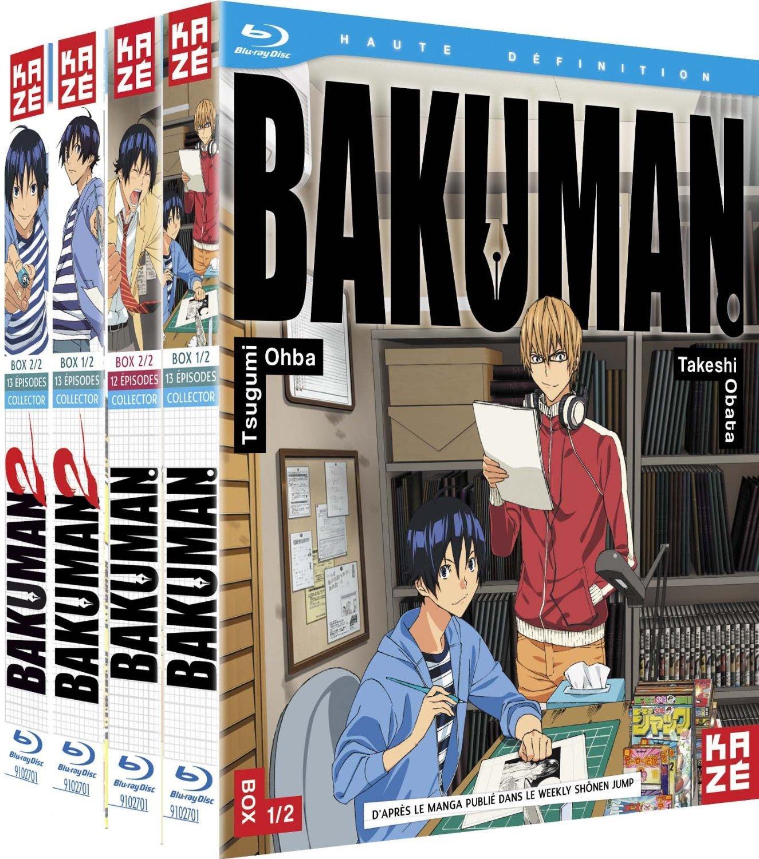 Pack Intégrale Saison 1 & 2 de Bakuman en Blu-ray