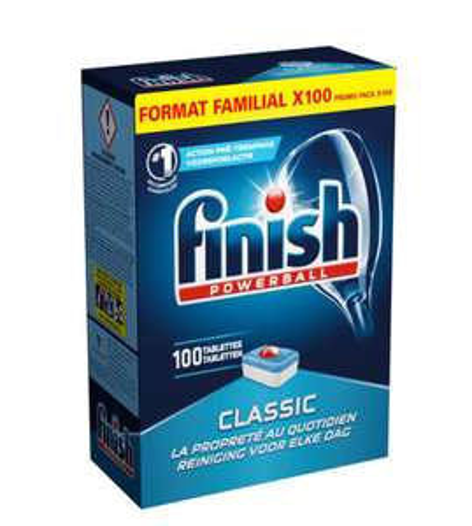 Lot de 2 paquet de 100 Tablettes lave-vaisselle Finish Classic
