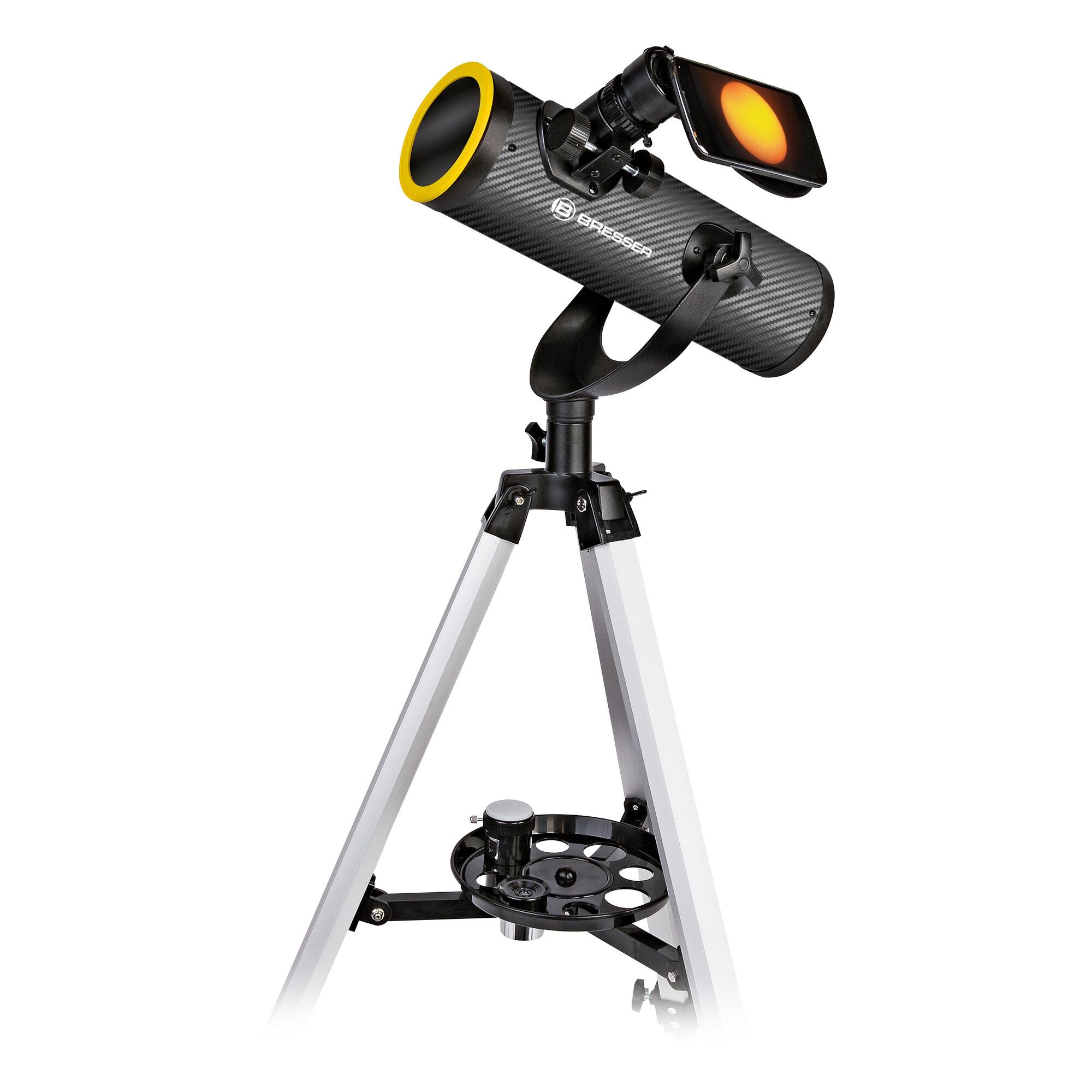 Télescope Bresser - 76/350, avec filtre solaire Solarix