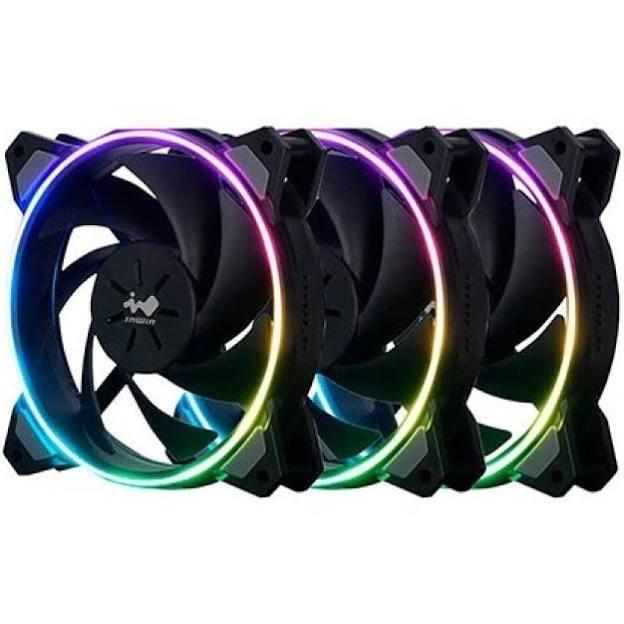 Pack de 3 ventilateurs PC InWin Sirius Loop ASL120 (PWM, ARGB, 120mm) + Contrôleur