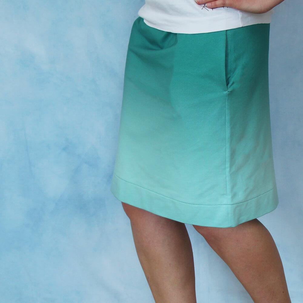 Patron de couture gratuit pour une jupe extensible pour femme - Taille S-XXL (Cheznu.net)