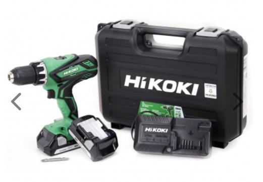 Perceuse visseuse Hikoki - 18V + 2 Batteries Li-ion 1.5Ah + Chargeur + Coffret de transport (DS18DJLWCZ)