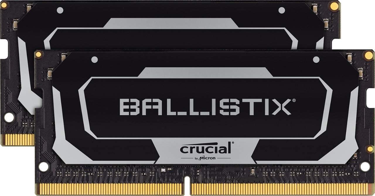 Kit mémoire DDR4 So-Dimm Crucial Ballistix BL2K8G32C16S4B 16 Go (2 x 8 Go) - 3200 Mhz, CL16