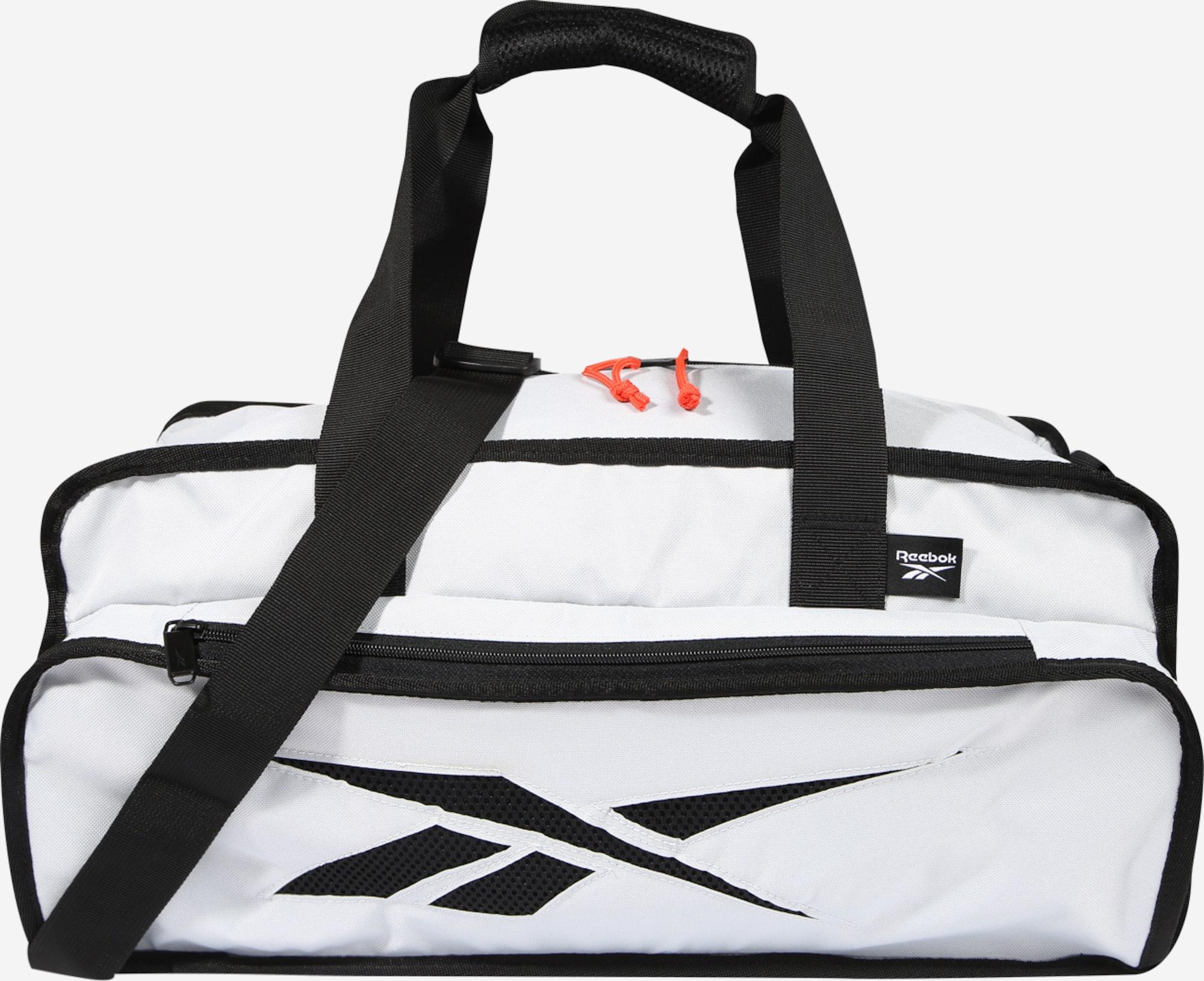 Sélection de sacs de sport Reebok en promotion - Ex : Sac de sport blanc ou noir (50 x 26 x 21 cm)