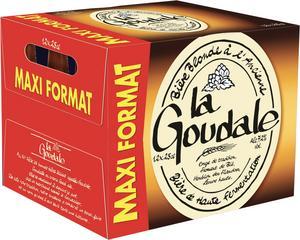 Pack de 12 bières blondes ou ambrées La Goudale - 12x25 cl