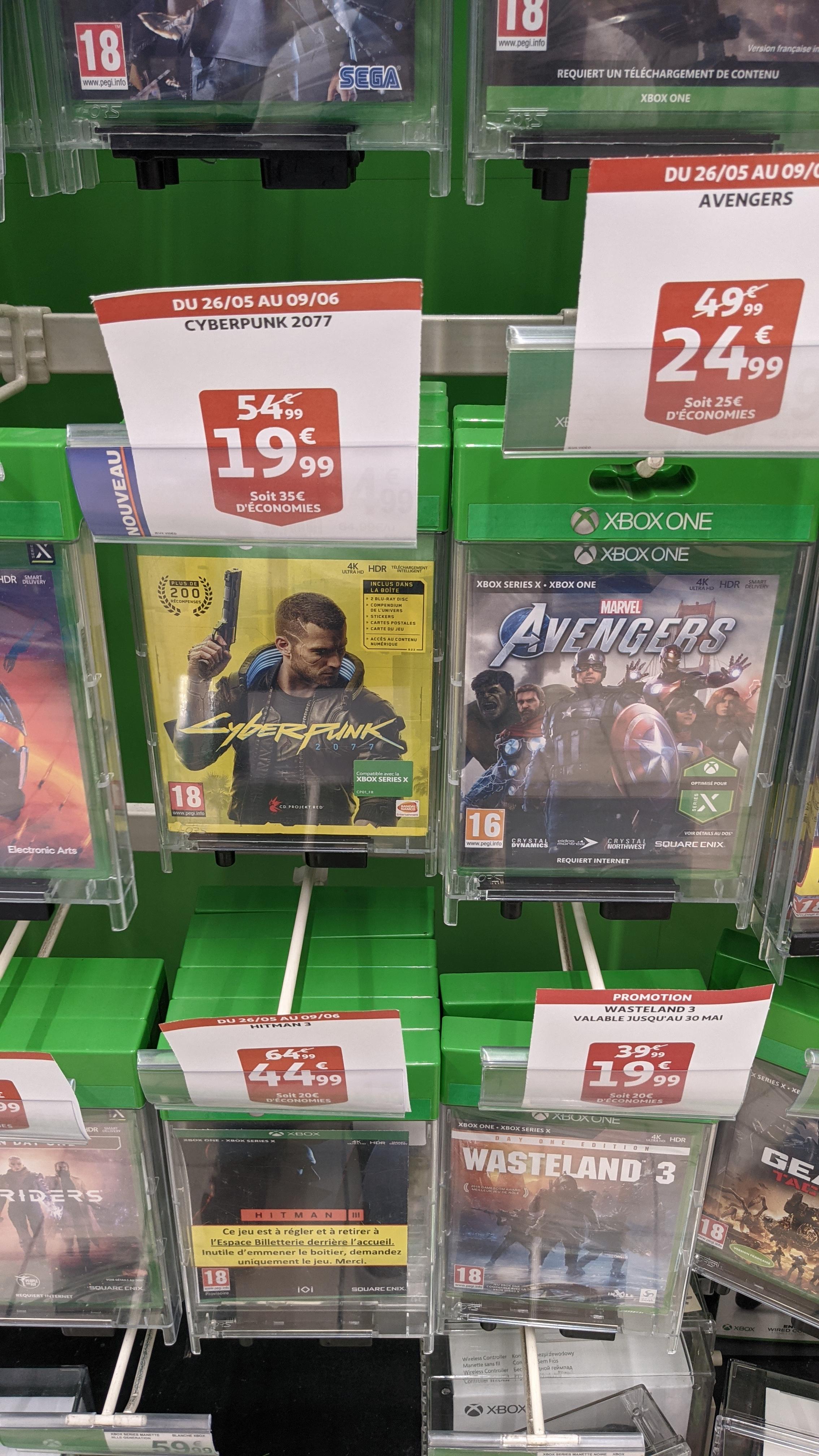 Sélection de jeux vidéo sur Xbox One & Series S/X en promotion - Ex : Cyberpunk 2077 - Illkirch-Graffenstaden (67)