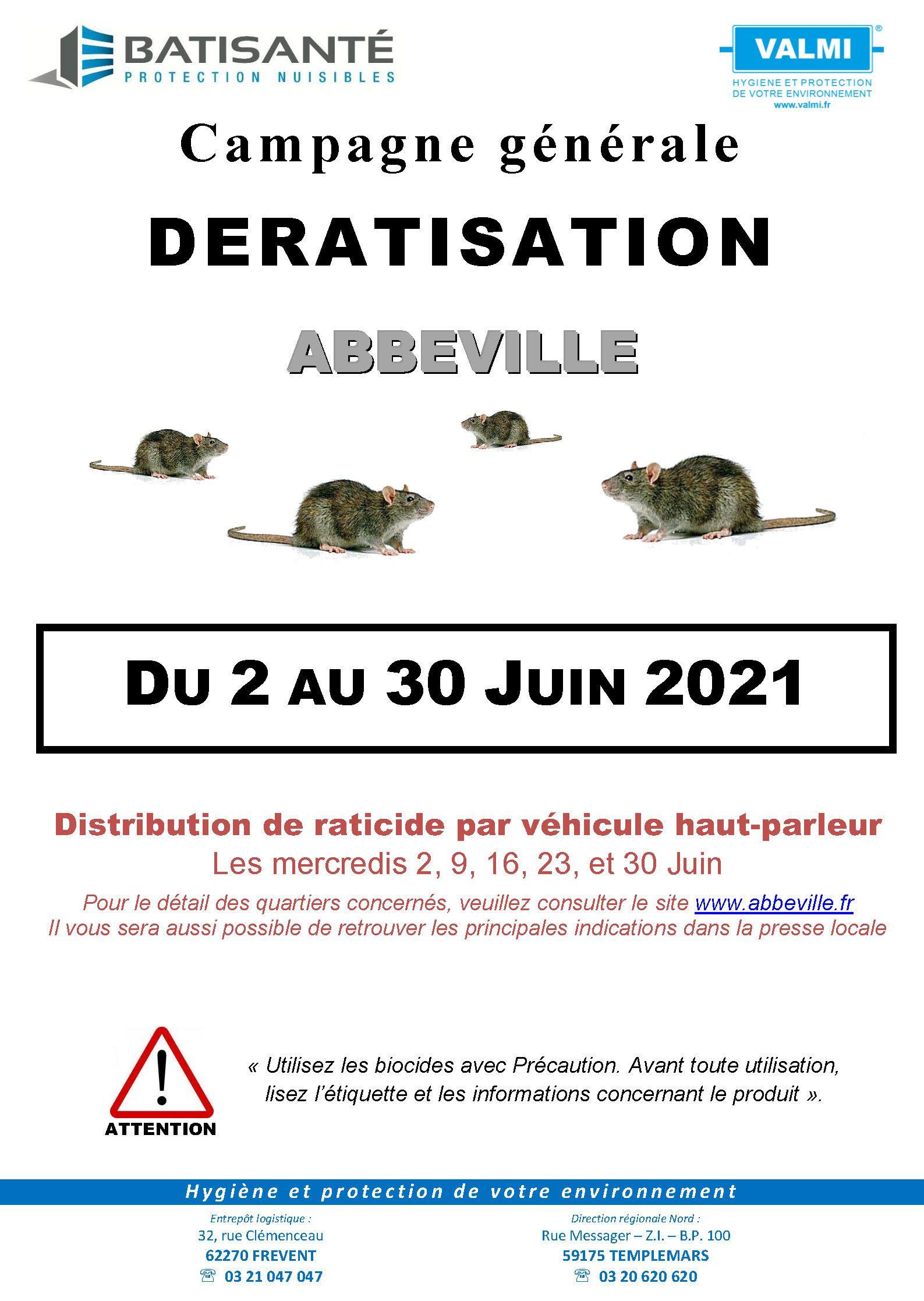 Distribution de raticide gratuite - Abbeville (80)