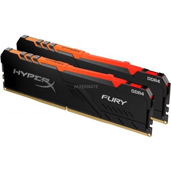 Kit Mémoire Hyper X Fury RGB - 2x8Go, DDR4, 3600Mhz, CAS 17