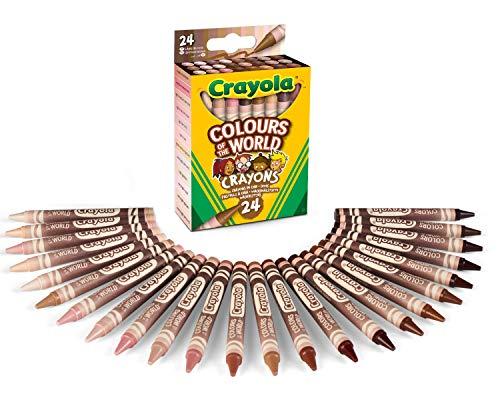 Lot de 24 Crayons en Cire Crayola - Couleurs assorties teintes de peau