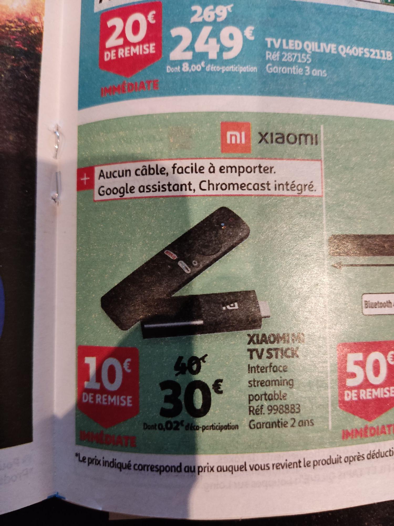 Lecteur multimédia Xiaomi Mi TV Stick - Full HD, Cortex-A53, RAM 1 Go, 8 Go, Android TV