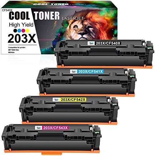 Pack de 4 toners d'impression compatibles HP Color LaserJet CoolToner Laserjet High Yield 203X (vendeur tiers)