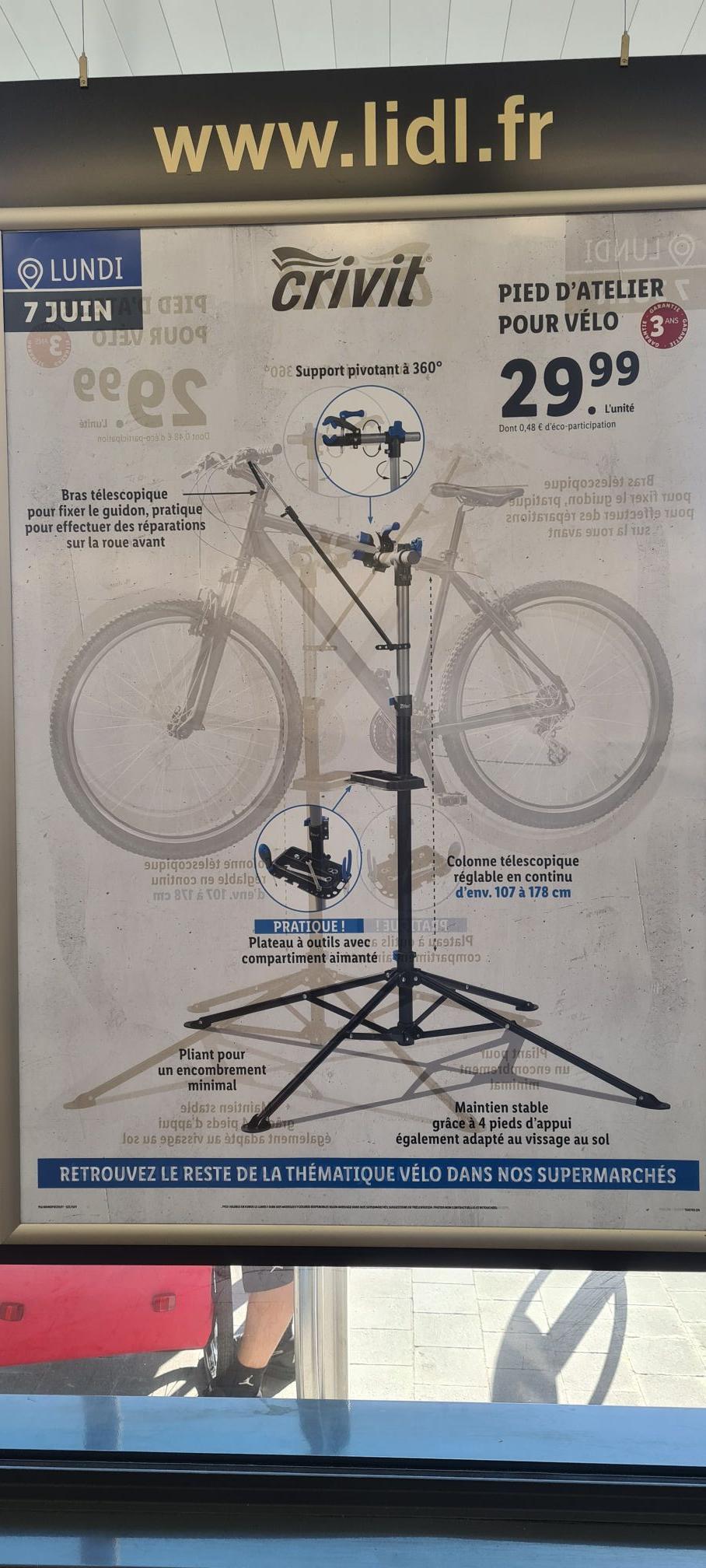 Pied d'atelier pour vélo Crivit - Le Grau-du-Roi (30)