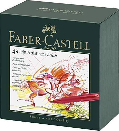 Boîte de 48 feutres couleurs Faber-Castell Pitt Artist Pen 167148