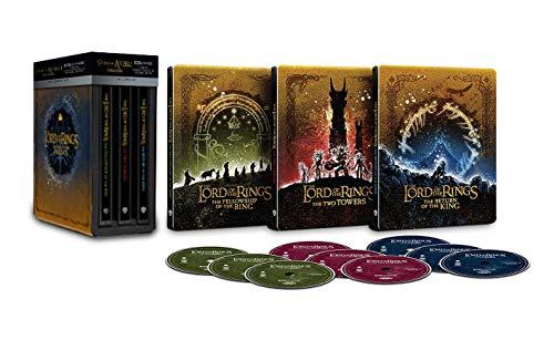 La trilogie du Seigneur des Anneaux – Coffret steelbook Blu-ray 4K version cinéma + version longue