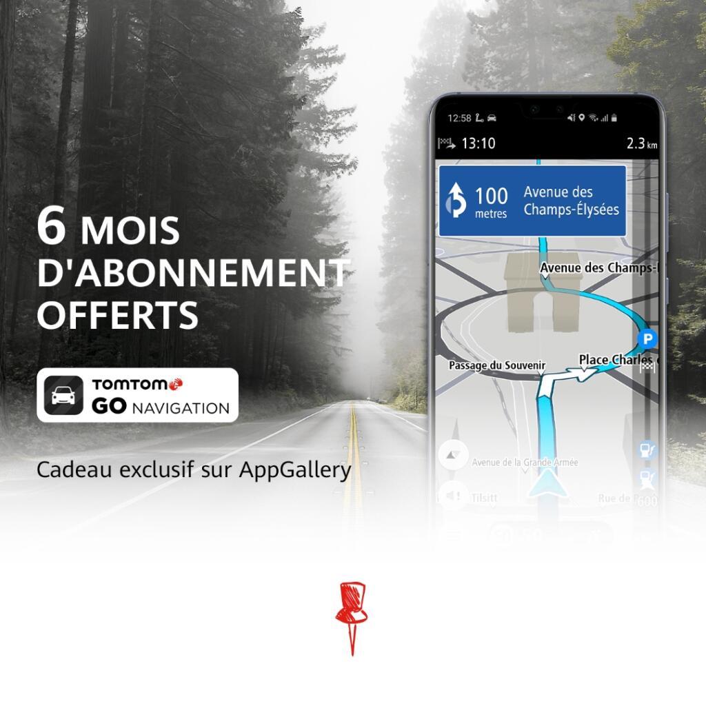 [Possesseurs Honor / Huawei via AppGallery] Abonnement de 6 mois au service TomTom Go Navigation gratuit (dématérialisé)