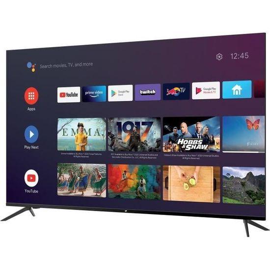 """TV 58"""" Continental Edison CEQLED58SA21B2 - 4K UHD, HDR, QLED, Smart TV"""