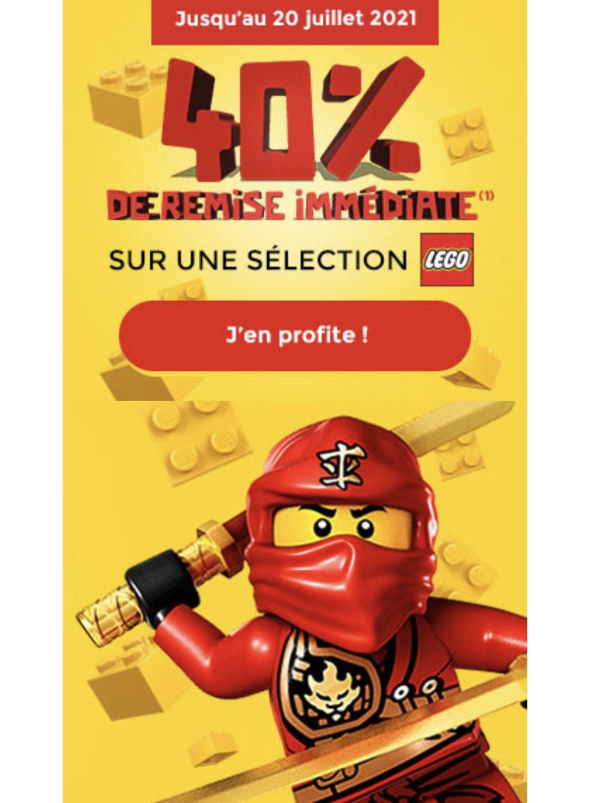 40% de réduction sur une sélection de Lego