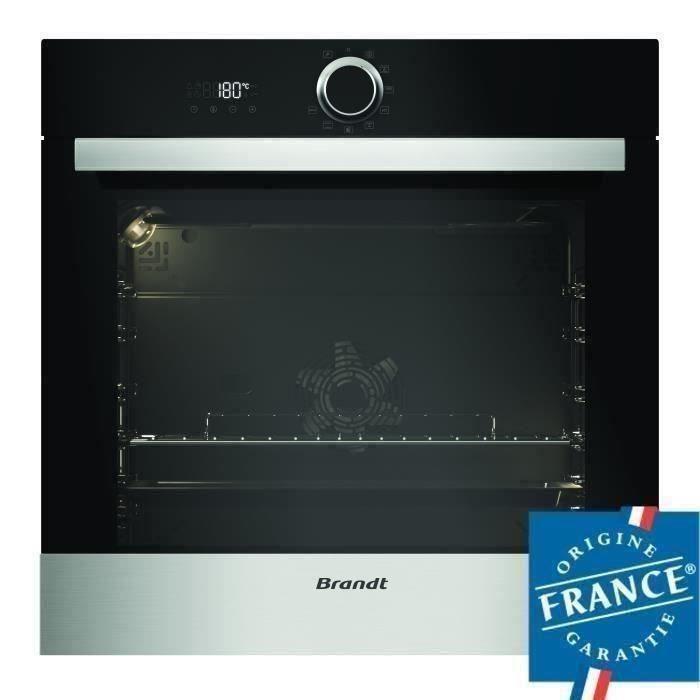 Four multifonction encastrable Brandt BXP5560X - 73 L, Pyrolyse, Inox, Porte Froide, Chaleur tournante