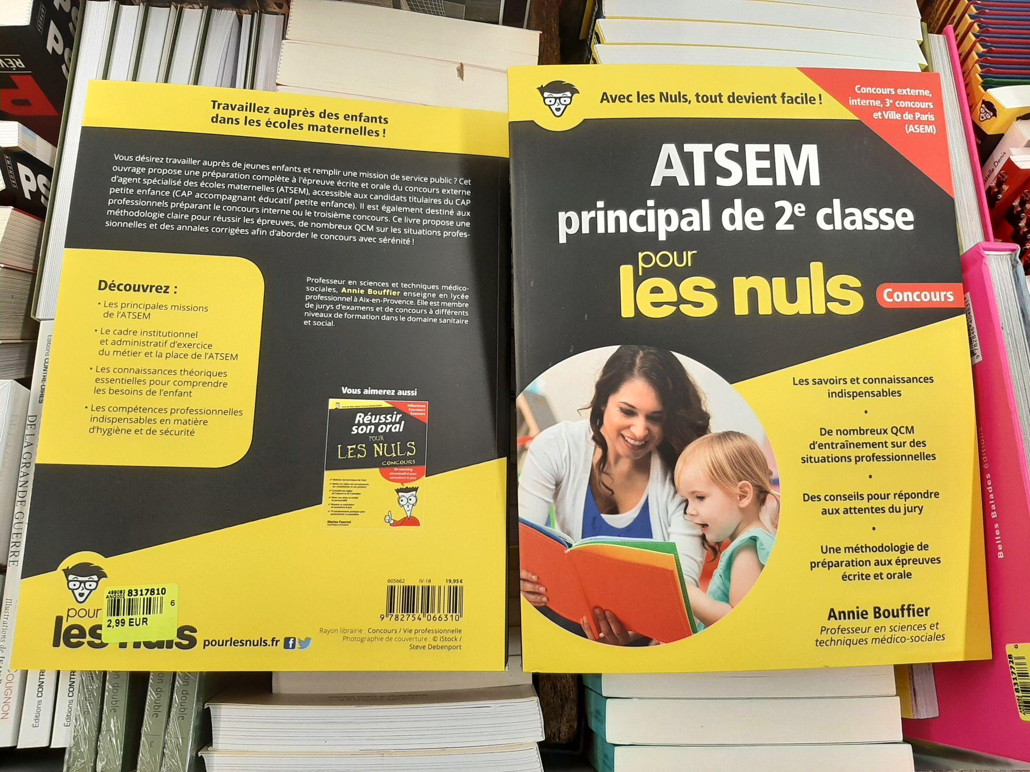 """Livre """"Préparer le concours d'ATSEM principal de 2e classe pour les nuls"""" - Franqueville-Saint-Pierre (76)"""