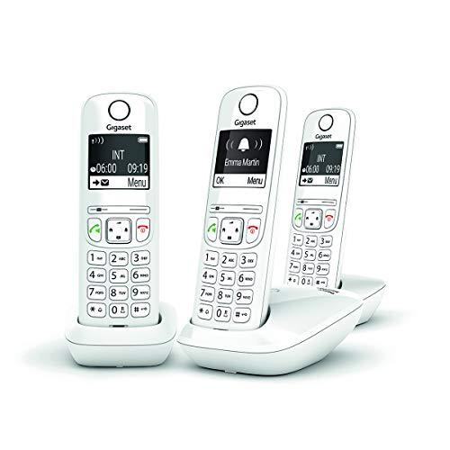 Pack de 3 téléphones fixes Gigaset AS690 - sans répondeur, blanc