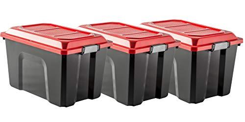 Lot de 3 malles de rangement en plastique Sundis Locker - 3x60 L