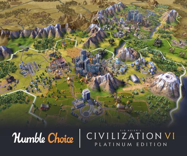 Humble Bundle Choice Juin 2021 : Civilization VI: Platinum Edition + 11 Jeux sur PC (Dématérialisé - Steam)