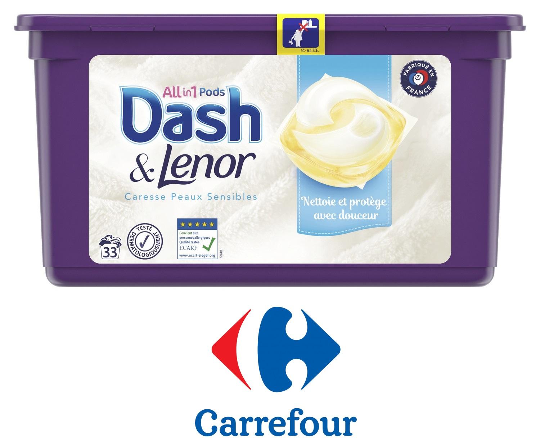"""Sélection de produits en promotion - Ex : 33 Capsules de Lessive """"All1 Pods Dash & Lenor"""" - Différentes variétés (via 8,46€ Cagnotte + BDR)"""
