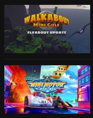Bundle Party with Friends : Wakabout mini golf + Mini motor racing X sur Oculus Quest (Dématérialisé)