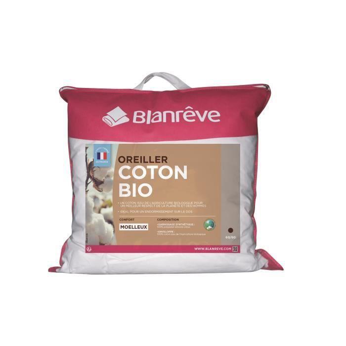 Oreiller Blanrêve en coton bio - 60 x 60 cm (via coupon)