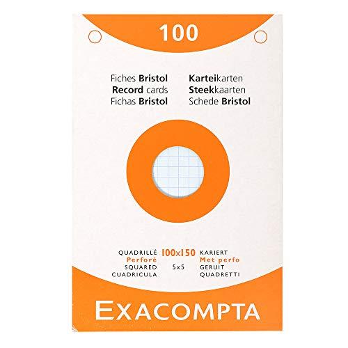 Etui refermable de 100 fiches bristol colorées Exacompte - 10 x 15 cm