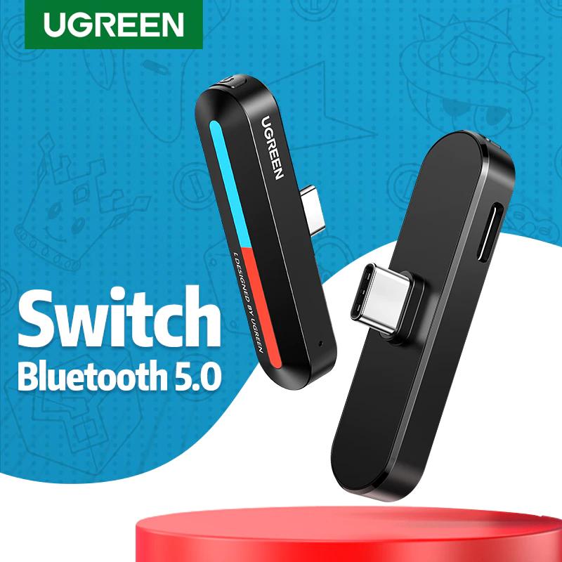 [Nouveaux clients] Sélection de produits UGreen en promotion - Ex : Adaptateur Audio pour Nintendo Switch - Bluetooth 5.0 + QC 18W