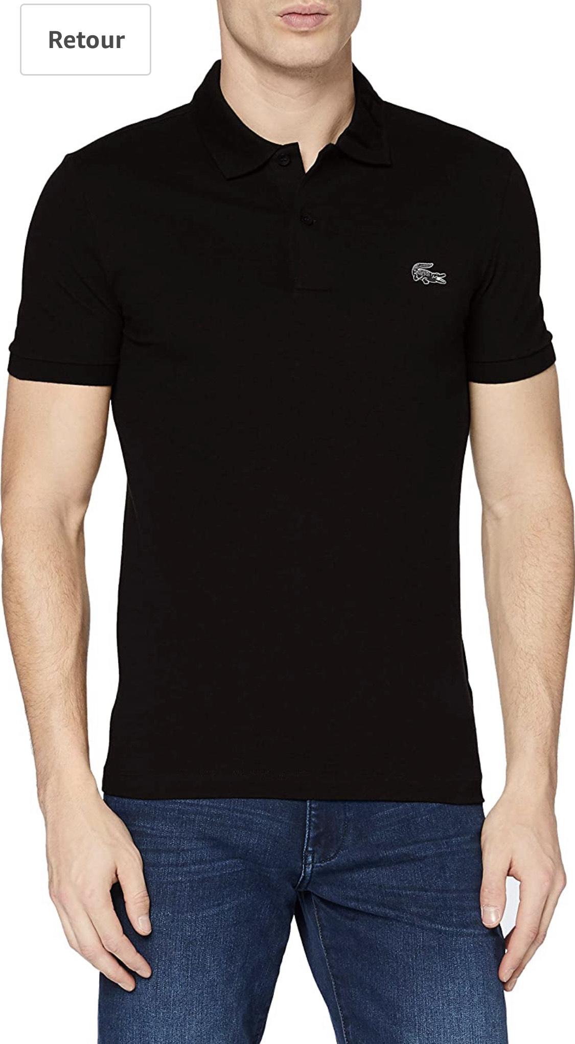 Polo Lacoste PH1848 pour Homme, 100% coton, Noir - Taille L