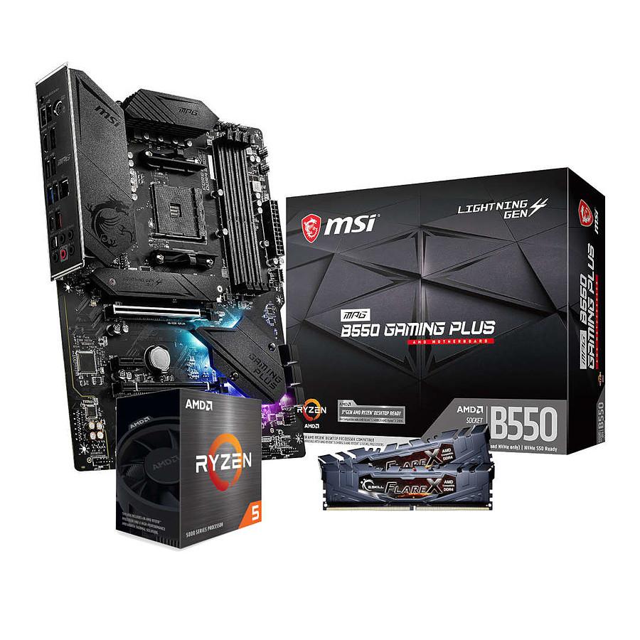 Jusqu'à 90€ de remise sur une sélection de kits d'évolution - Ex: AMD Ryzen 5 5600X - MSI B550 - RAM 16Go 3200MHz