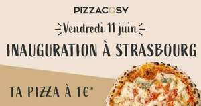 Pizza 4 Fromages, Curryeuse, Marguerite ou Savoyarde à emporter pour 1€ - Pizza Cosy Strasbourg (67)