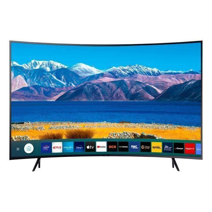 "TV 55"" Samsung UE55TU8305 - LED, 4K UHD, Incurvé, HDR 10+/HLG, Smart TV + Jusqu'à 137€ en Rakuten Points (Vendeur Cdiscount)"