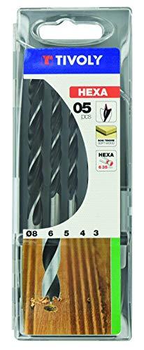 Coffret de 5 forets bois hexagonaux Tivoly 10803770001