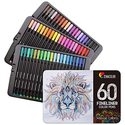 Lot de 60 feutres de coloriage à pointe fine Zenacolor (vendeur tiers)