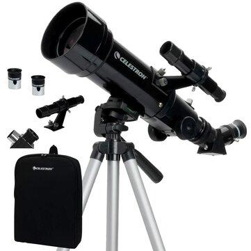 Lunette d'observation Celestron Travel Scope 70 - achromatique, ouverture 70mm, focale 400mm, avec accessoires, sac et trépied (entrepôt CZ)